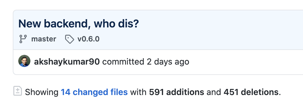 screenshot of github pull request page